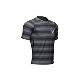 Compressport Performance SS T-Shirt, black/stripes